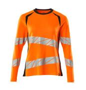 19091-771-14010 T-shirt, långärmad - hi-vis orange/mörk marin