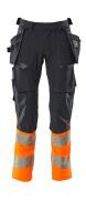 19131-711-01014 Byxor med hängfickor - mörk marin/hi-vis orange