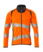 19184-781-14010 Sweatshirt med blixtlås - hi-vis orange/mörk marin