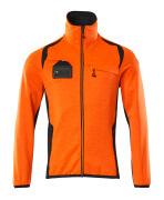 19403-316-14010 Fleecetröja med blixtlås - hi-vis orange/mörk marin
