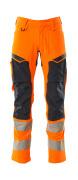 19479-711-14010 Byxor med knäfickor - hi-vis orange/mörk marin