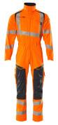 19519-236-14010 Overall med knäfickor - hi-vis orange/mörk marin