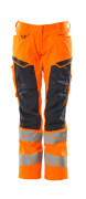 19578-236-14010 Byxor med knäfickor - hi-vis orange/mörk marin
