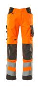 20879-236-1418 Byxor med knäfickor - hi-vis orange/mörk antracit
