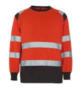 50110-854-A49 Sweatshirt - hi-vis röd/mörk antracit