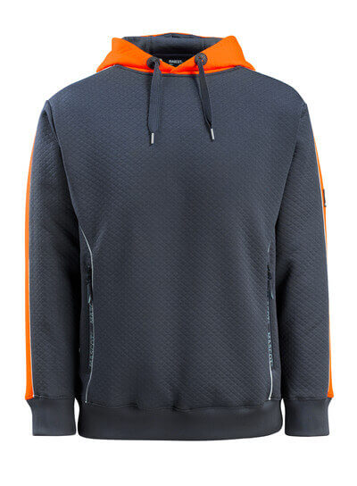 50124-932-01014 Huvtröja - mörk marin/hi-vis orange
