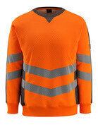 50126-932-1418 Sweatshirt - hi-vis orange/mörk antracit