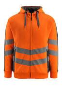 50138-932-1418 Huvtröja med blixtlås - hi-vis orange/mörk antracit