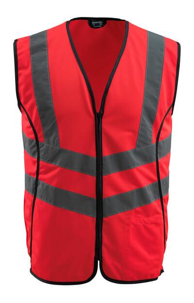 50145-982-222 Trafikväst - hi-vis röd