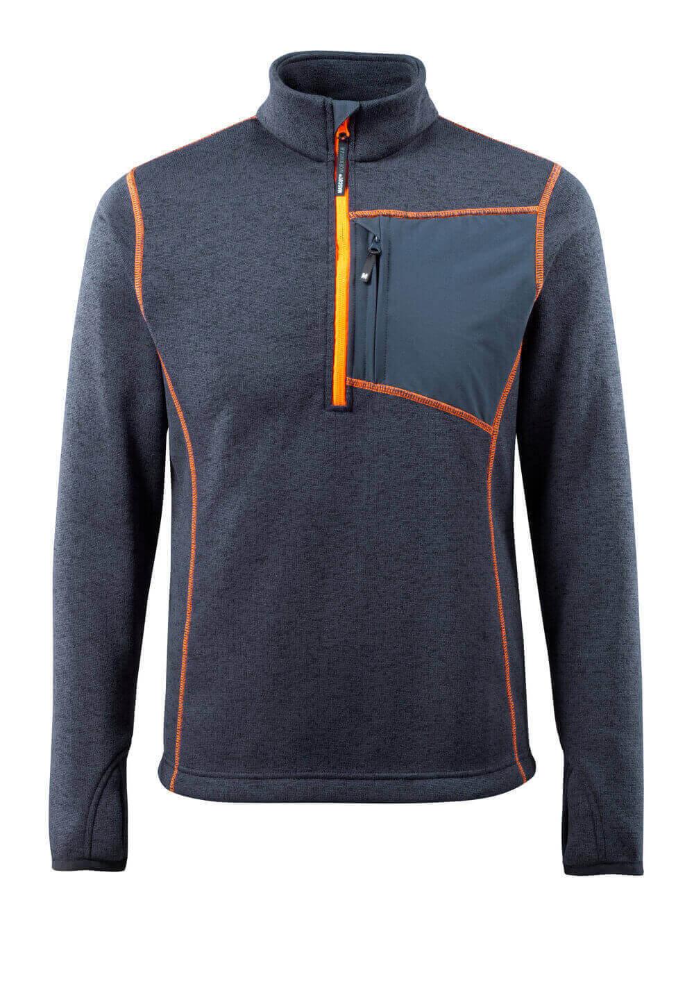 50149 951 Stickad tröja med kort blixtlås MASCOT® HARDWEAR