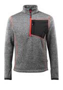 50149-951-010 Stickad tröja med kort blixtlås - mörk marin