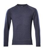 50204-830-66 Sweatshirt - tvättad mörk blå denim