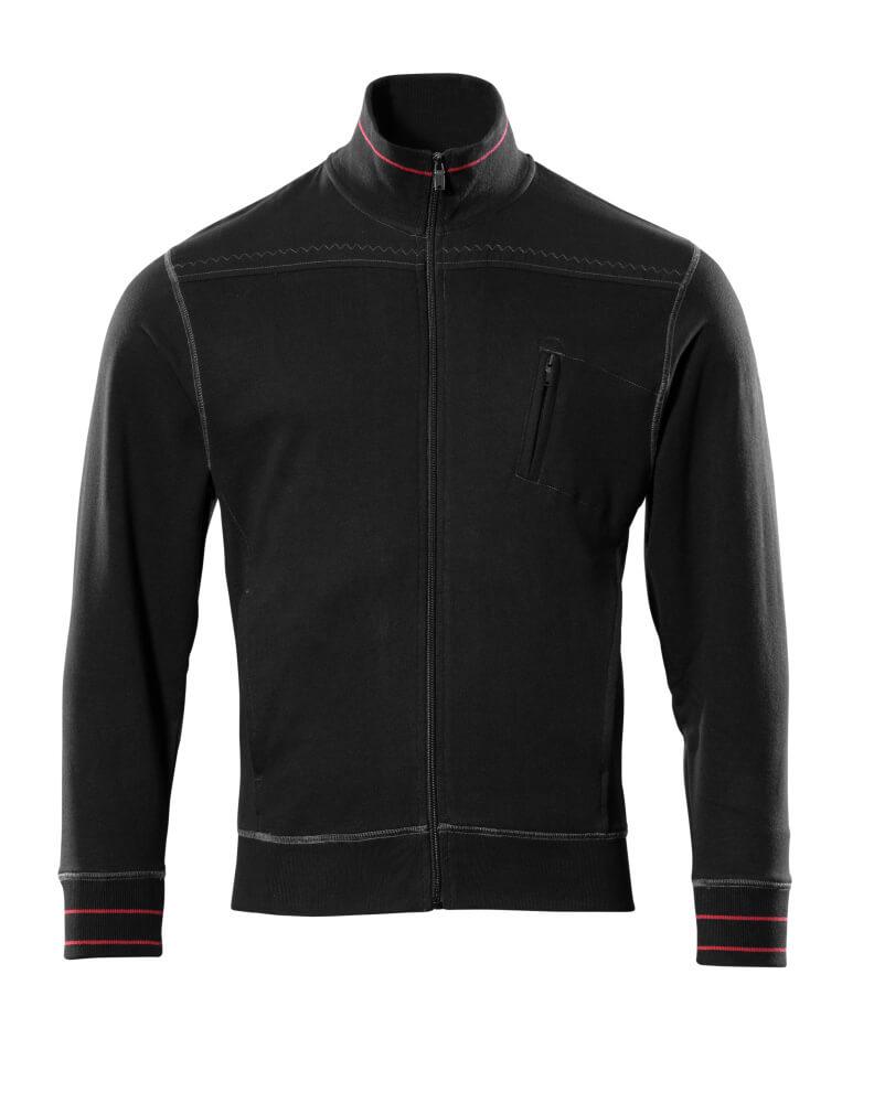 50353-834-09 Sweatshirt med blixtlås - svart