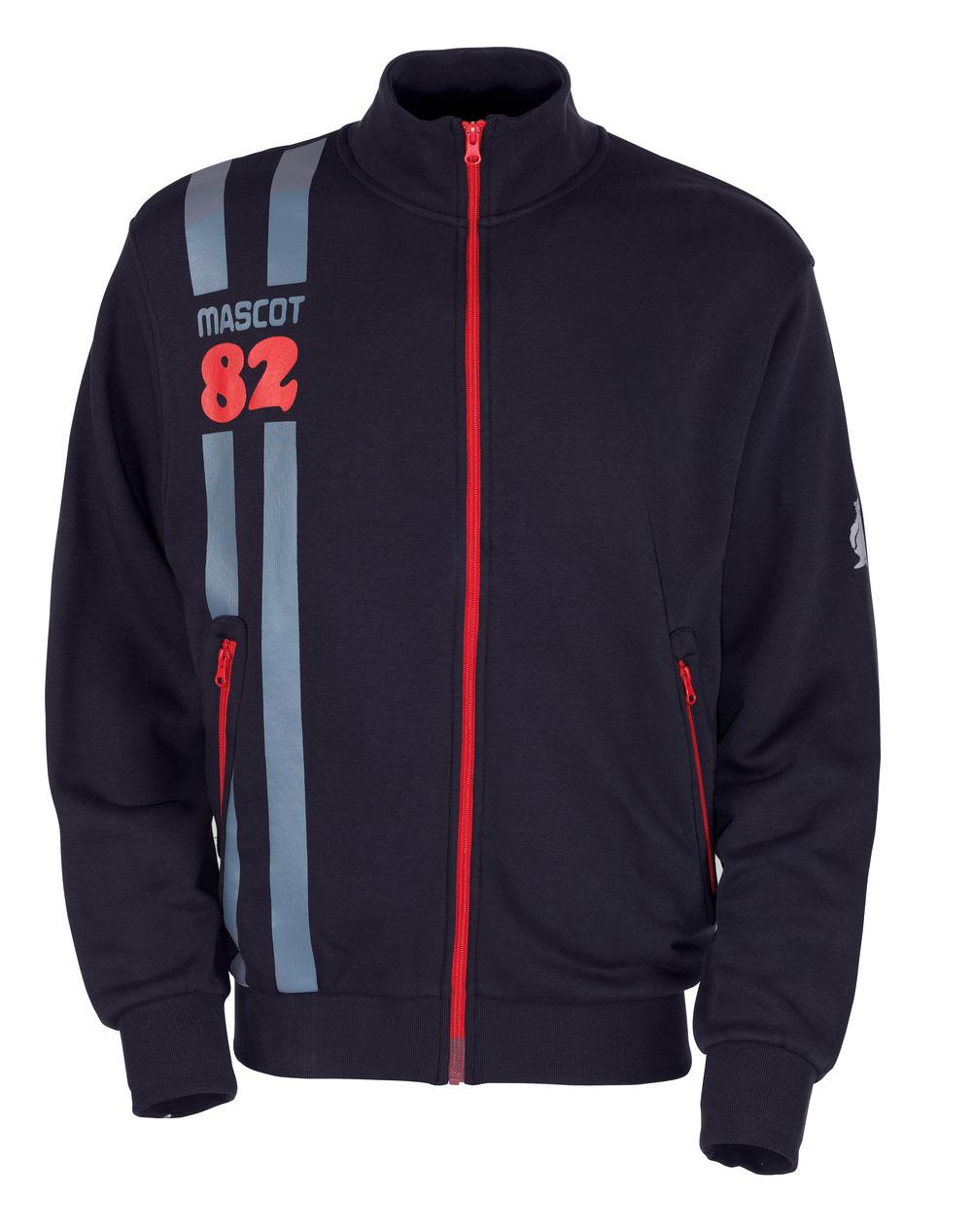 50422-191-010 Sweatshirt med blixtlås - mörk marin