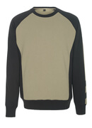 50503-830-5509 Sweatshirt - ljus-kaki/svart