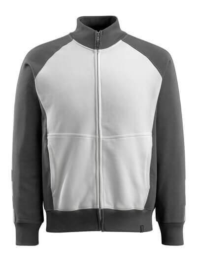 50565-963-1809 Sweatshirt med blixtlås - mörk antracit/svart