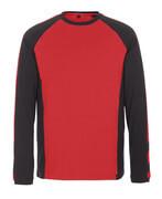 50568-959-0209 T-shirt, långärmad - röd/svart