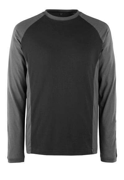 50568-959-1809 T-shirt, långärmad - mörk antracit/svart
