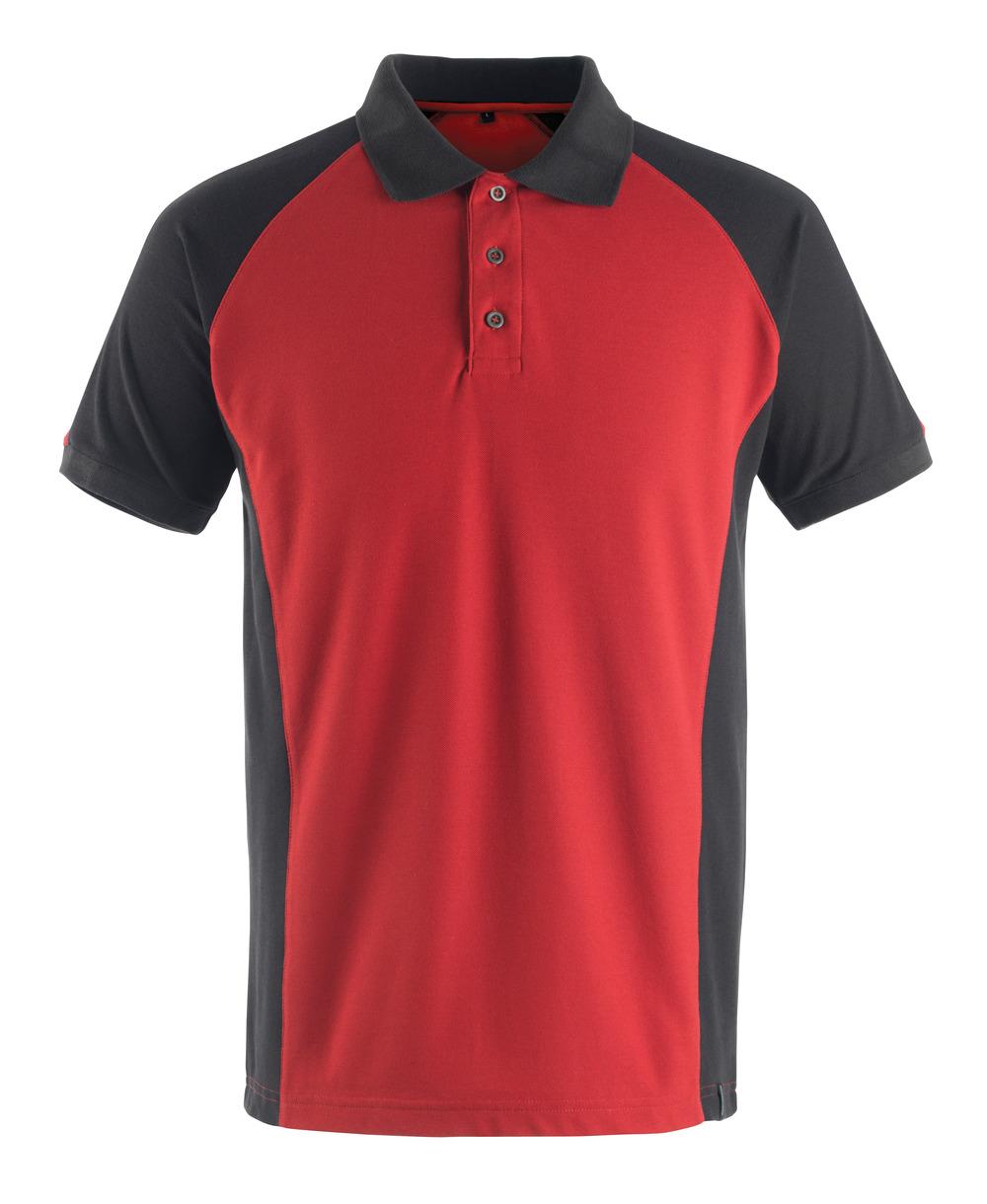 50569-961-0209 Pikétröja - röd/svart