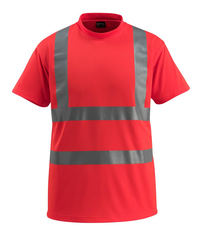50592-976-222 T-shirt - hi-vis röd