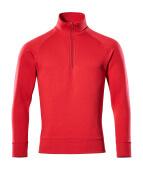 50611-971-02 Sweatshirt med kort blixtlås - röd
