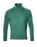 50611-971-03 Sweatshirt med kort blixtlås - grön
