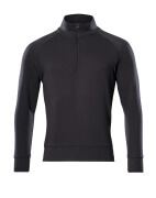 50611-971-09 Sweatshirt med kort blixtlås - svart