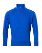 50611-971-11 Sweatshirt med kort blixtlås - kobolt