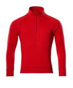 50611-971-202 Sweatshirt med kort blixtlås - signalröd