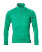50611-971-333 Sweatshirt med kort blixtlås - gräsgrön