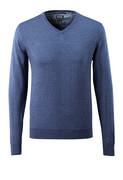 50635-989-41 Stickad tröja - blå-melerat