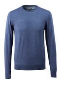 50636-989-41 Stickad tröja - blå-melerat