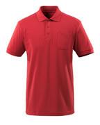 51586-968-02 Pikétröja med bröstficka - röd