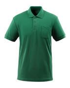 51586-968-03 Pikétröja med bröstficka - grön