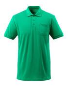 51586-968-333 Pikétröja med bröstficka - gräsgrön