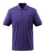 51586-968-95 Pikétröja med bröstficka - blåviolett