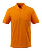 51586-968-98 Pikétröja med bröstficka - skarp orange
