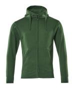 51590-970-03 Huvtröja med blixtlås - grön