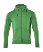51590-970-333 Huvtröja med blixtlås - gräsgrön
