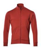 51591-970-02 Sweatshirt med blixtlås - röd