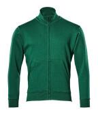 51591-970-03 Sweatshirt med blixtlås - grön