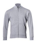 51591-970-08 Sweatshirt med blixtlås - grå-melerat