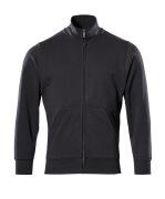51591-970-09 Sweatshirt med blixtlås - svart