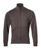 51591-970-18 Sweatshirt med blixtlås - mörk antracit