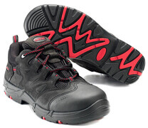 F0014-901-0902 Skyddsskor - svart/röd