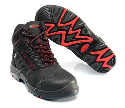 F0025-901-0902 Skyddskängor - svart/röd