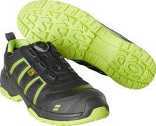 F0125-773-0917 Skyddsskor - svart/limegrön
