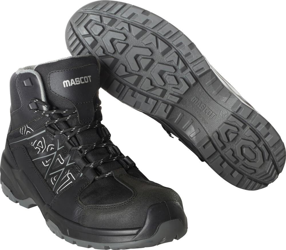 F0129-947-09 Skyddsskor (höga) - svart